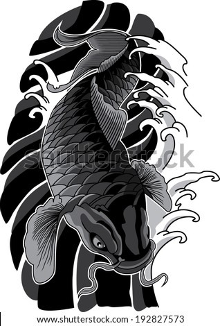 koi tattoo stock images royalty free images vectors shutterstock. Black Bedroom Furniture Sets. Home Design Ideas