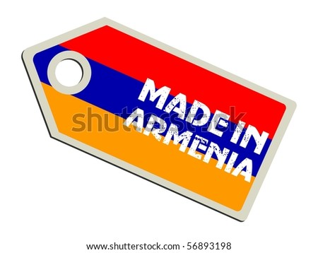 vector label Made in Armenia