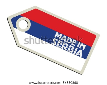 vector label Made in Serbia