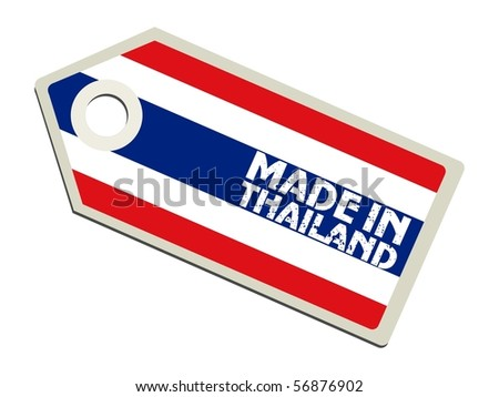 vector label Made in Thailand