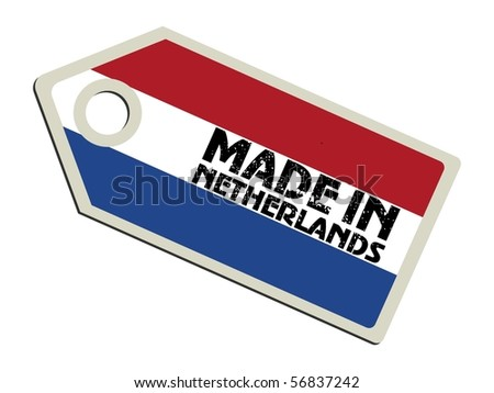 vector label Made in the Netherlands