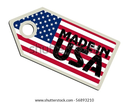 vector label Made in USA - stock vector