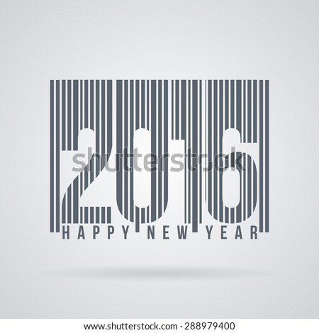 Vector label to the new 2016 as barcode