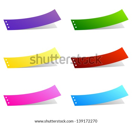 Vector labels. - stock vector