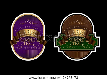 vector Labels - stock vector