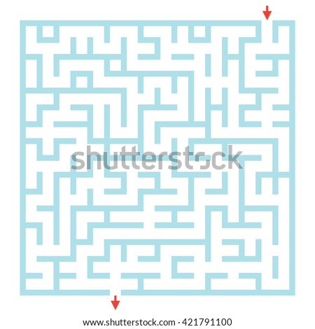 Vector Labyrinth for preschool children. Rebus or quiz for school. Funny maze game for kids. Visual game for Preschool Children
