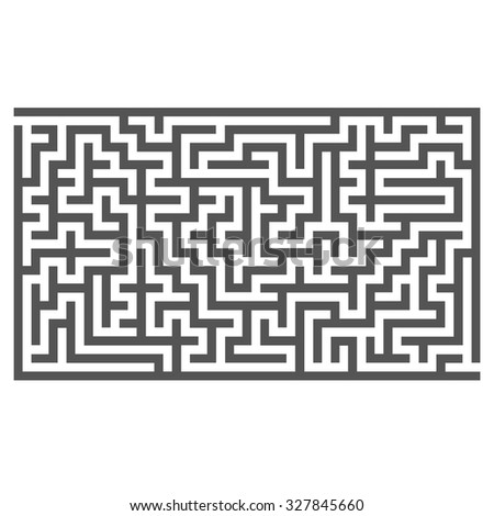 Vector Labyrinth Isolated on White Background. Kids Maze - stock vector