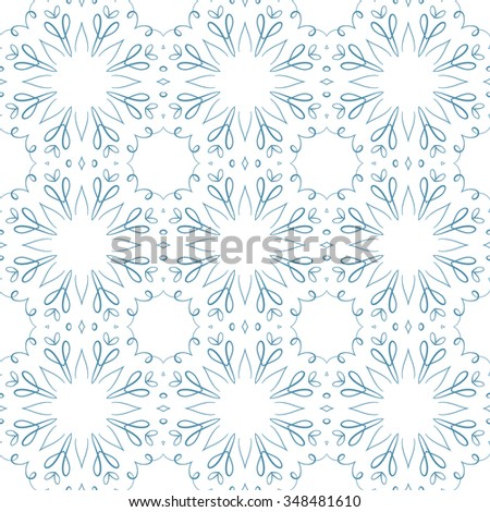 Vector lace abstract seamless pattern. Ethnic style background.