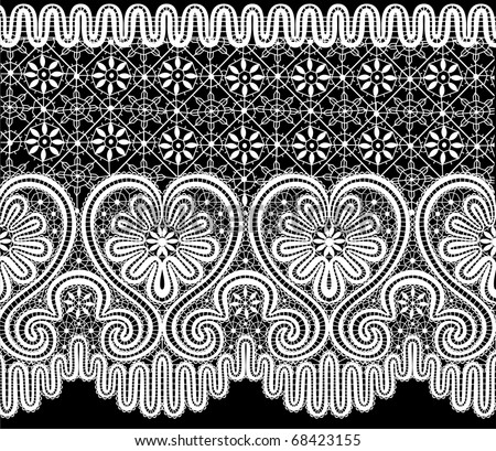 vector lace elements - stock vector