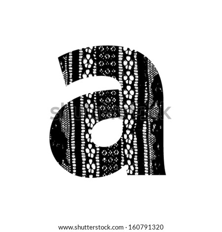 Vector lace font - letter a - stock vector