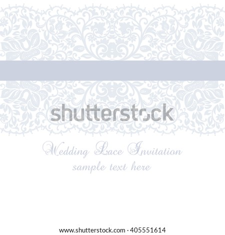 Elegant wedding invitation card sample text stock vector 135872390 vector lace invitation card with lace floral ornament delicate lace design card for wedding ceremonies stopboris Image collections
