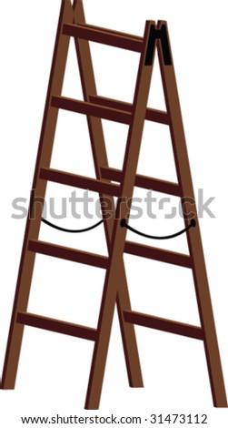 Vector ladder - stock vector