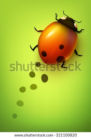 Vector ladybug losing its spots - stock vector