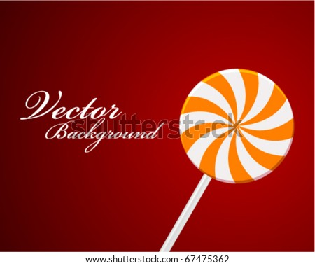 Vector land candy lollipop background - stock vector