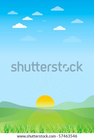 Vector landscape. - stock vector
