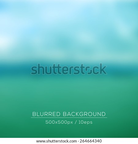 Vector landscape, web and mobile interface background. Corporate website design. Nature backdrop. Vector. Editable. Unfocused. Seaside background. Blurred wallpaper - stock vector