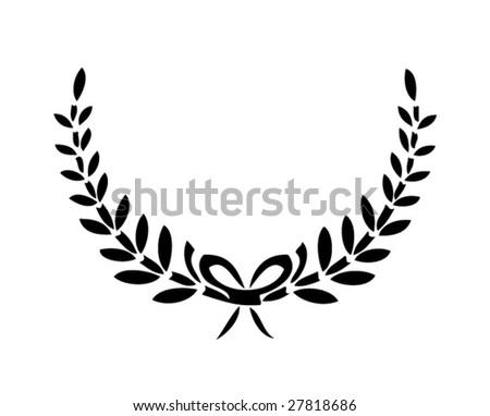vector laurels 2 - stock vector