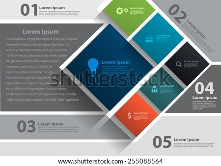 Vector layout template design, brochure, flyer, magazine cover, poster banner - stock vector