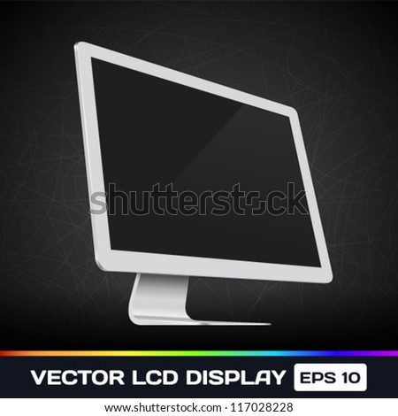 Vector LCD Display Icon - stock vector