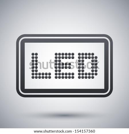 Vector LED screen icon - stock vector