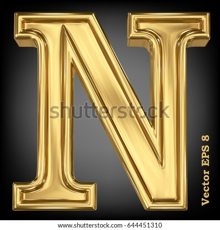 n letter in gold on quotesfab gold letters stock images royalty free images amp vectors 889