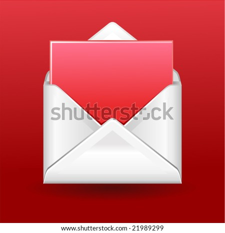 vector letter with greetings (only gradients) - stock vector