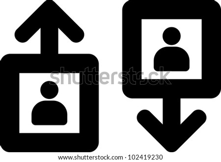Vector lift elevator icon isolated - stock vector