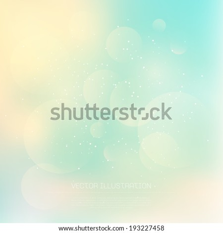 Vector light and subtle blurry glowing bokeh background with glitter.