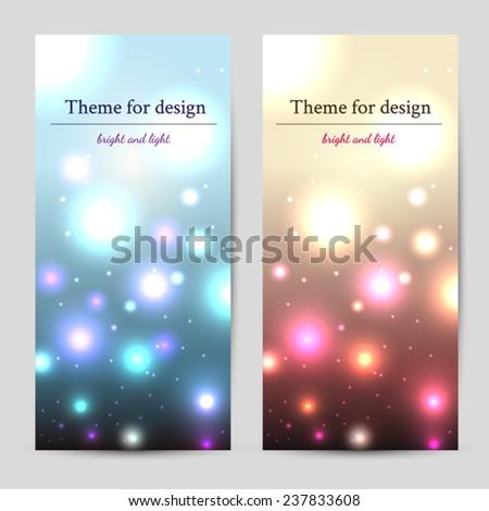 Vector light banner - stock vector