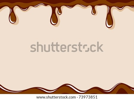 Vector light brown background with liquid milk chocolate