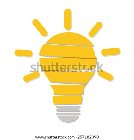 Vector light bulb. Idea concept - stock vector