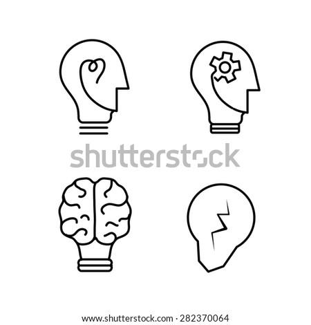 vector light bulb logo concepts - stock vector