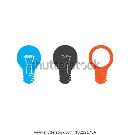 Vector Light bulbs Set - stock vector
