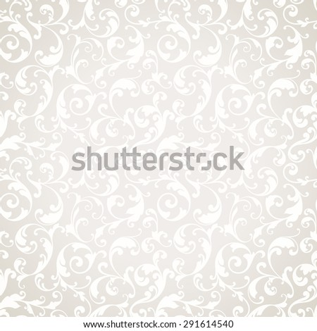 Vector light wedding background Seamless abstract pattern. Ornamental background with elegant pattern