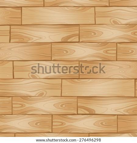 Vector light wooden texture, wooden background - stock vector