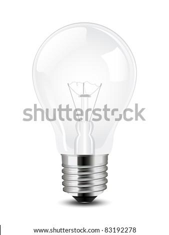 Vector lightbulb - stock vector