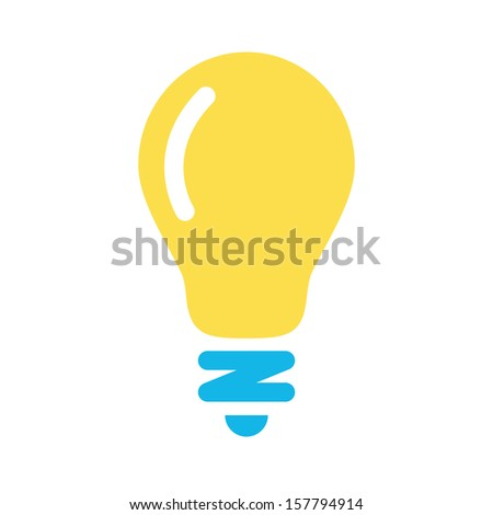 Vector Lightbulb Icon - stock vector