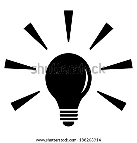 Vector lightbulb icon isolated on white