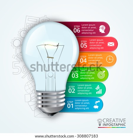 Fluorescent Light Bulb Diagram Simple Another Cfl Tested Vector Idea Infographic With Template For Creative Finest Lightbulb Elements Graph And Chart