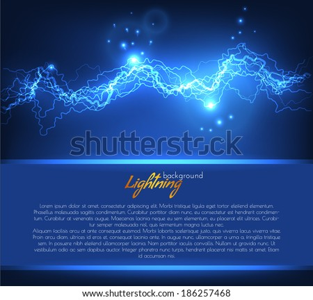 Vector lightning background with space for text. Vector eps10 - stock vector