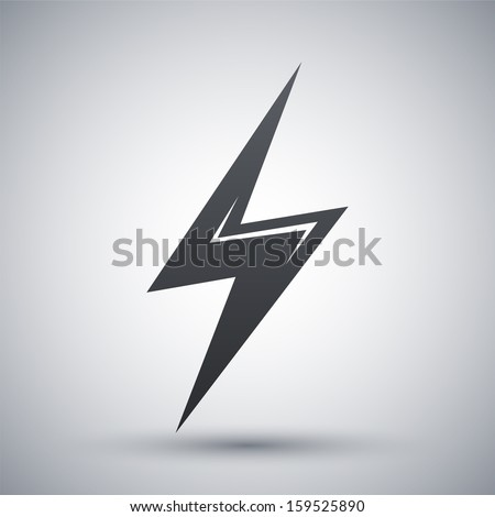 Vector lightning icon - stock vector