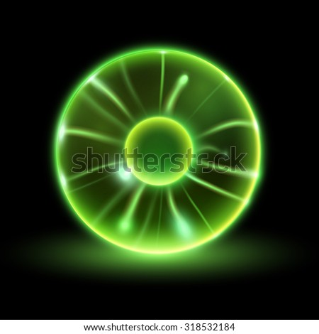 vector lightning sphere - stock vector