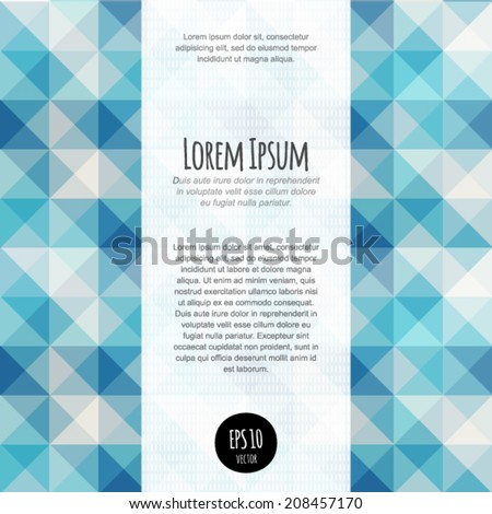 Vector lights abstract background. For business blank, card, flyer, banner, invitation, advertisement, brochure, book cover design template with text block. Graphic layout complete. Geometry backdrop. - stock vector