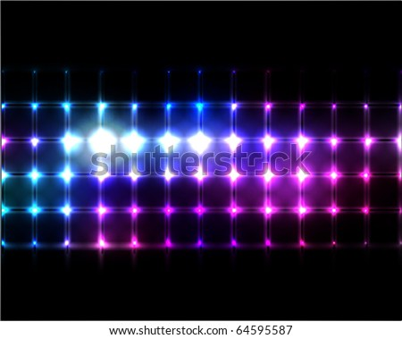 vector lights background - stock vector