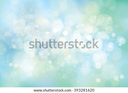 Vector lights, blue,  bokeh background. - stock vector