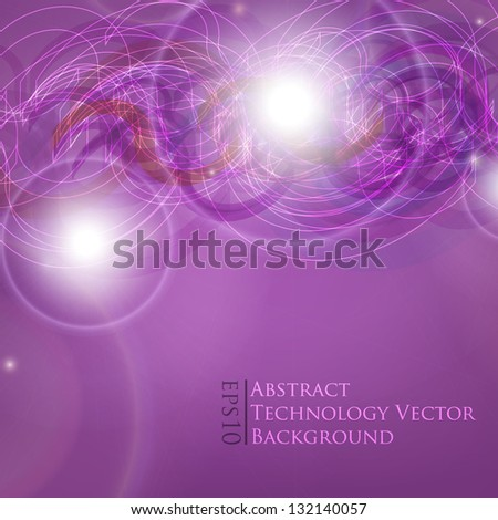 Vector line abstraction design against dark background