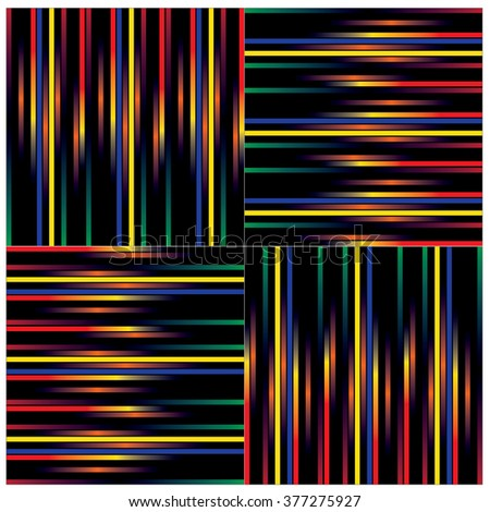vector line and angular colorful pattern