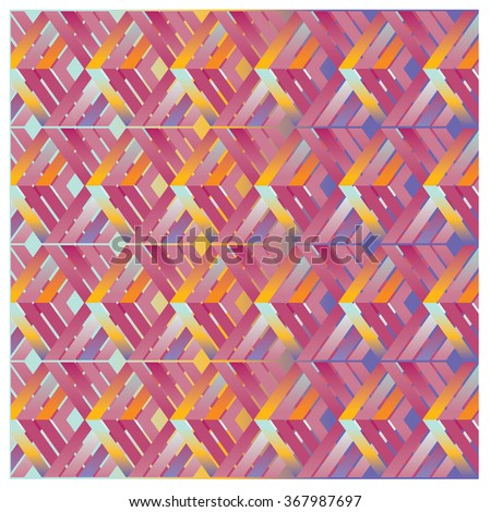 vector line and angular colorful pattern background