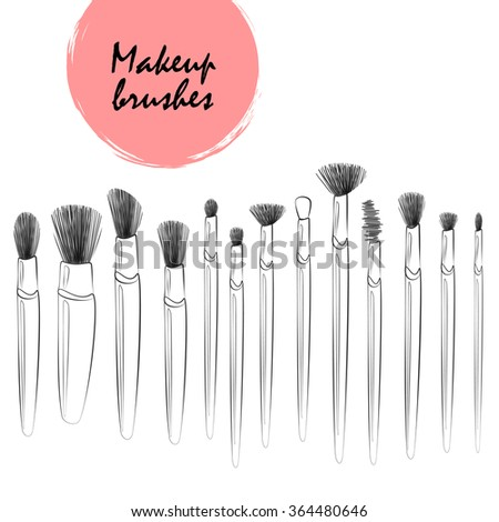 makeup brush vector - photo #28