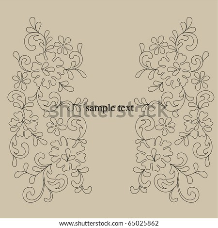 Vector line drawing patterns background
